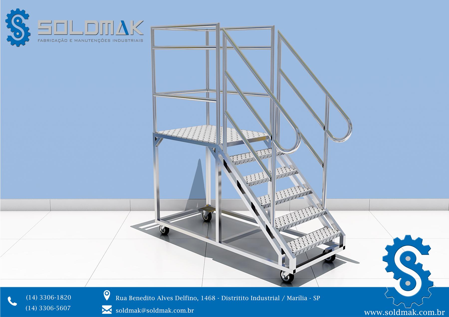 Escada Móvel em Alumínio