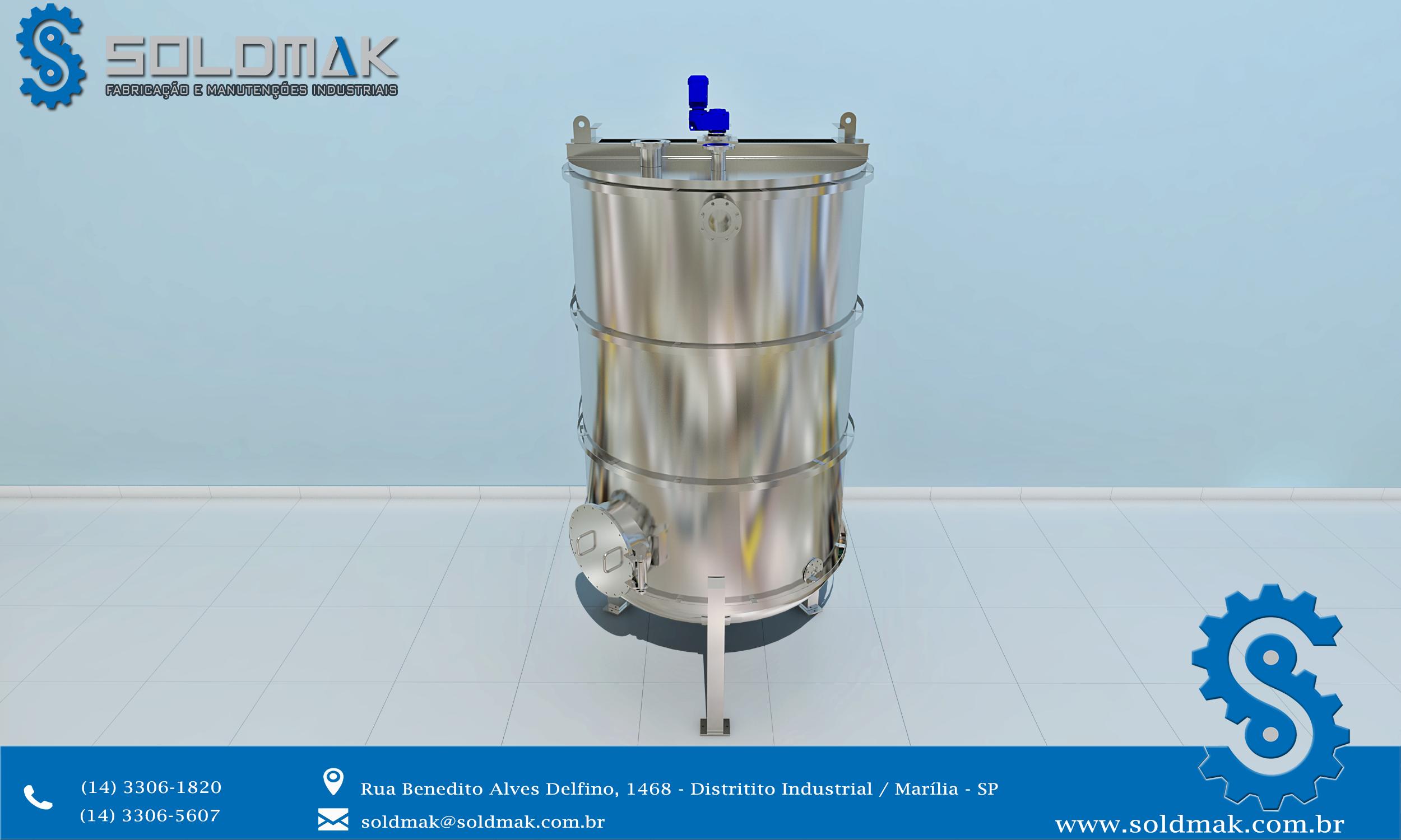 Tanque Reator em inox