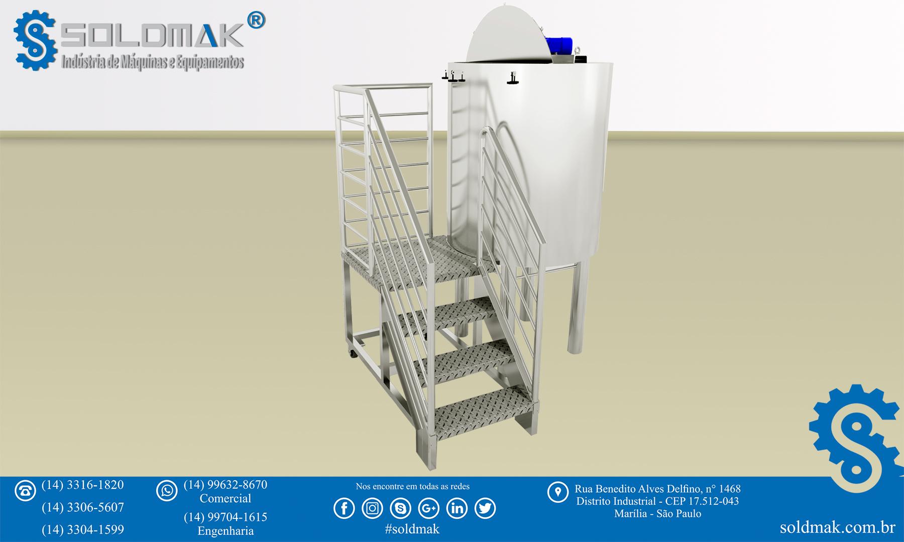 Escada para acesso a silos e tanques