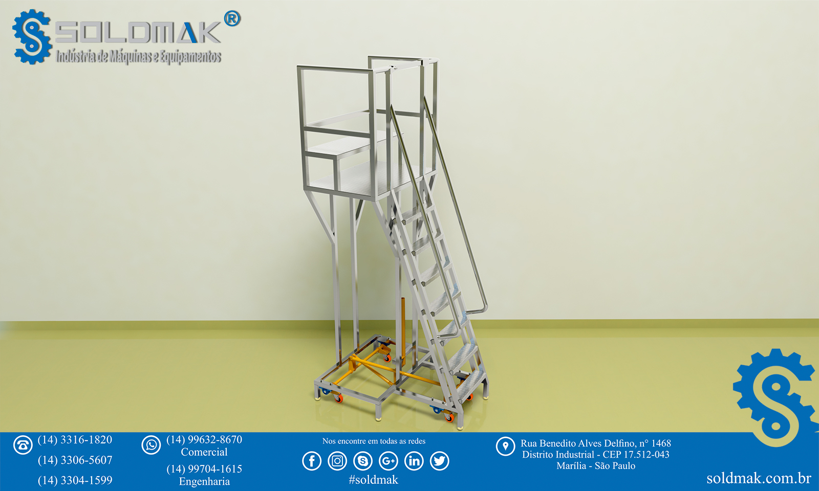 Escada Trepadeira móvel/fixa