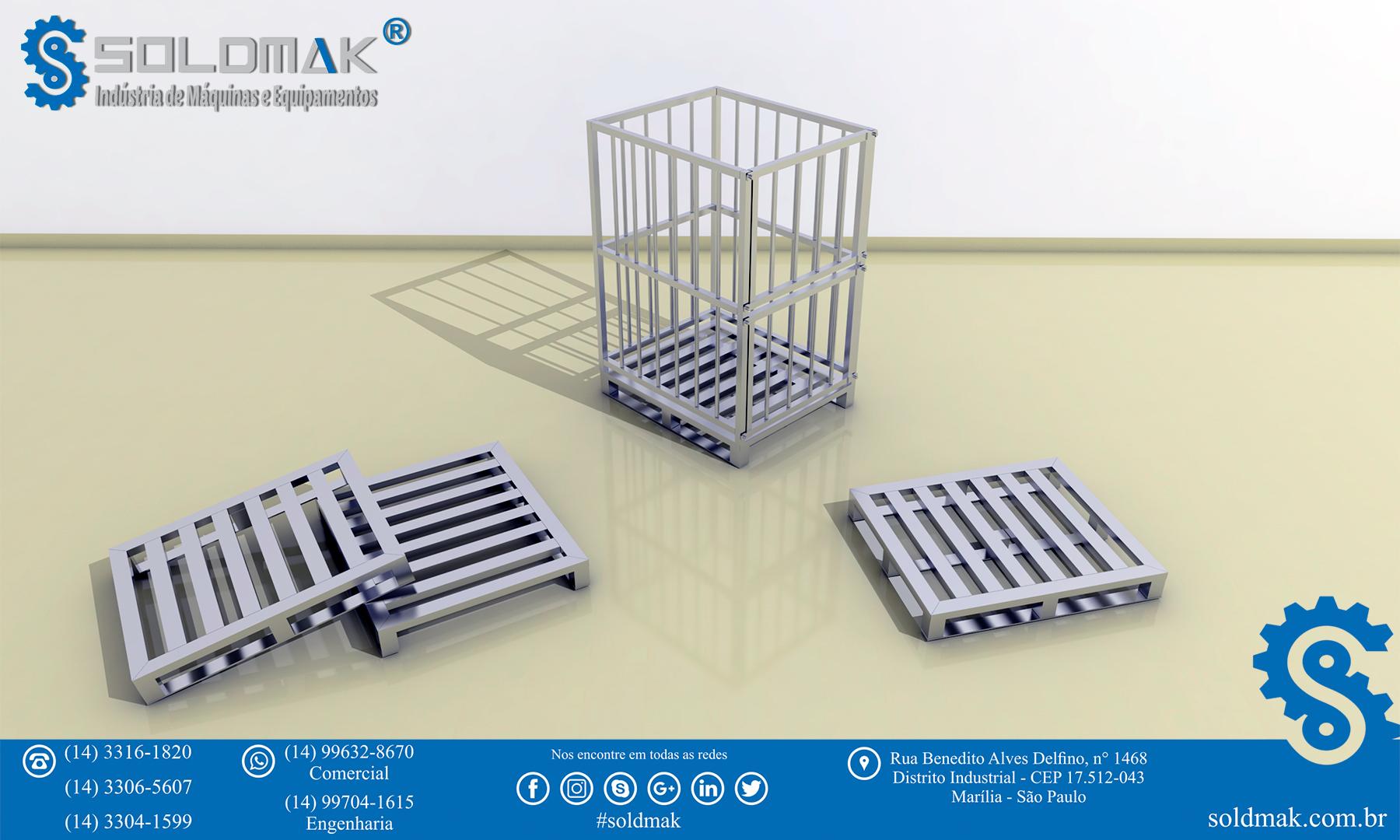 Pallets de alumínio